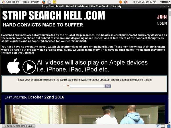 Strip Search Hell Free Memberships
