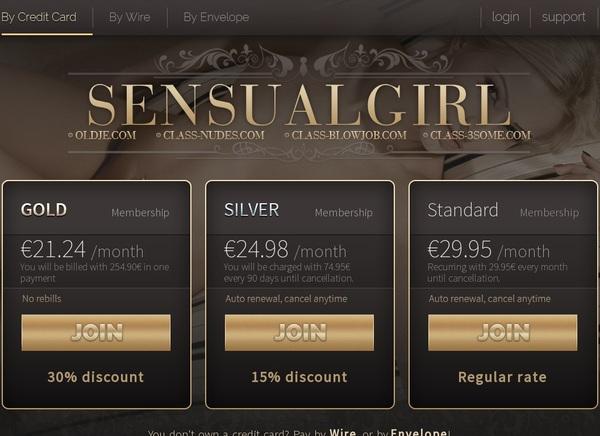 One Time Sensualgirl Discount