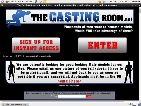 Thecastingroom.net Discount Sign Up