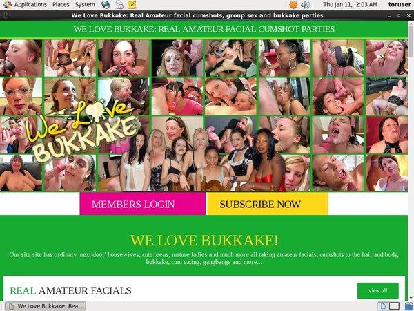 We Love Bukkake Pussy