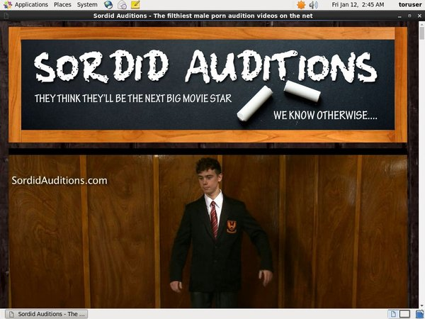 Free Sordid Auditions Account Passwords