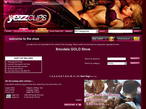 Xmodels Gold Store Trial Pass