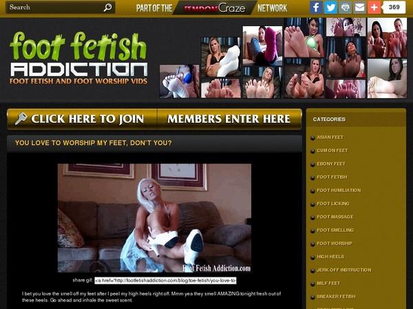 Foot Fetish Addiction Gratis Password