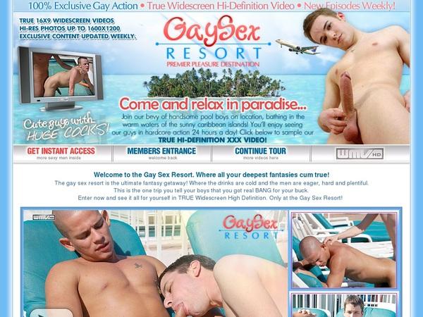 Gaysexresort.com Working Pass