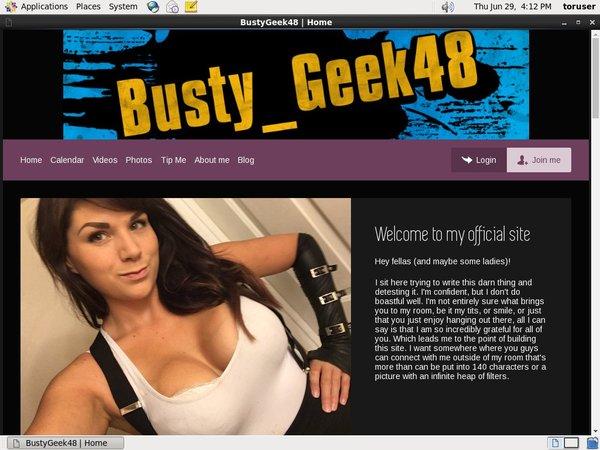 Free BustyGeek48 Login And Pass