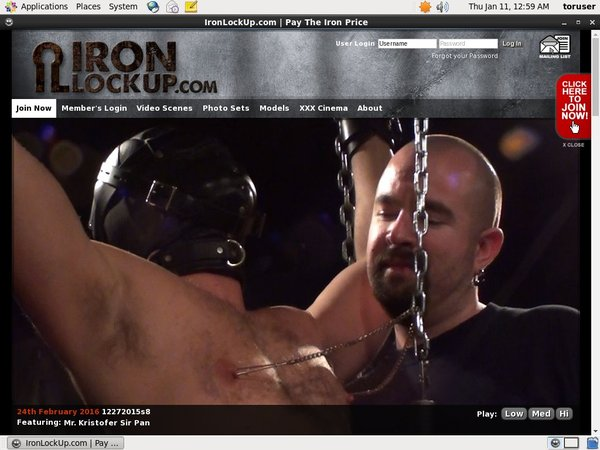 Iron Lock Up Get Membership