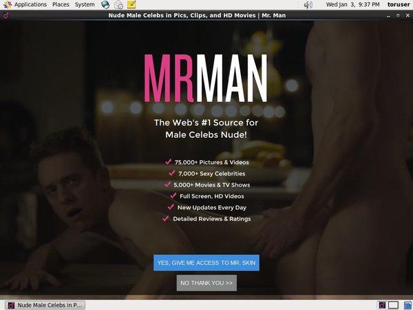 Mr Man Discount Promo