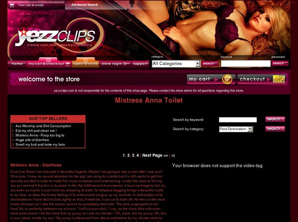 Free MistressAnnaToilet Membership Account