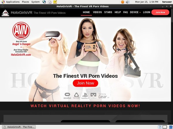 HoloGirlsVR Home Page