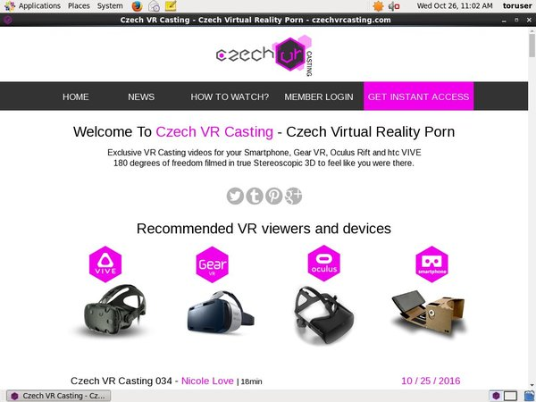 Czechvrcasting.com Account